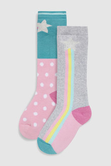 Next Pastel Rainbow Welly Socks (Younger)