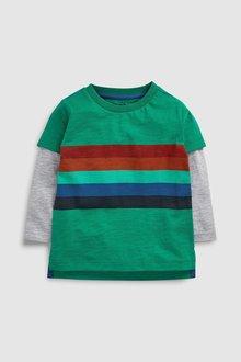 Next Skate Sleeve Rainbow Stripe T-Shirt (3mths-6yrs)