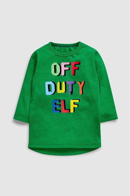 Next Off Duty Elf T-Shirt (3mths-6yrs)