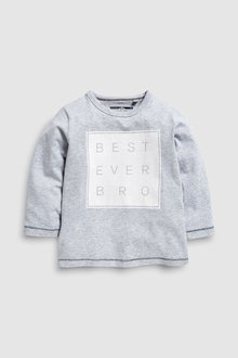Next Long Sleeve Best Bro T-Shirt (3mths-6yrs)