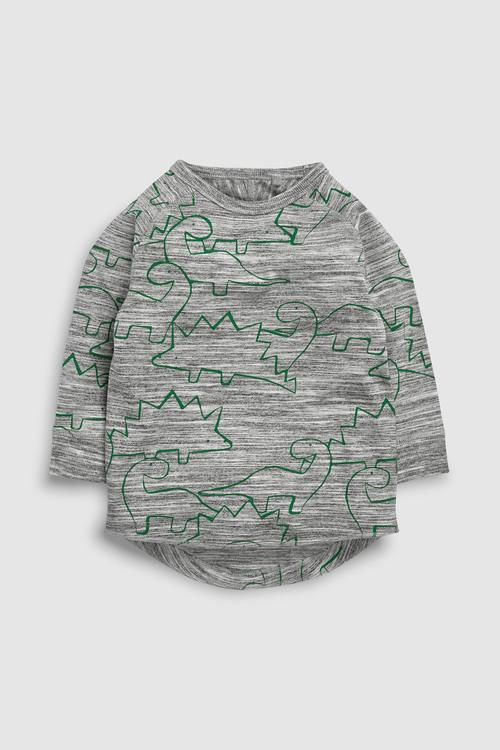 Next Long Sleeve Dinosaur T-Shirt Five Pack (3mths-6yrs)