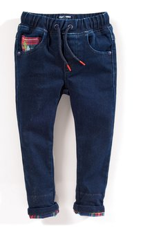 Next Supersoft Pull-On Jeans With Check Turn-Up (3mths-6yrs)