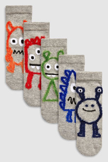 Next Fluffy Monster Socks Five Pack (Younger)