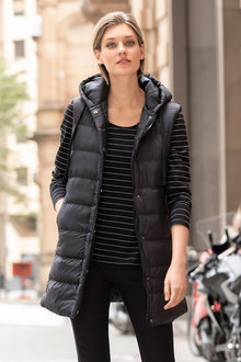 Emerge Longline Hooded Puffer Vest