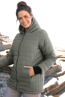 Plus Size - Sara Hooded Puffer Jacket