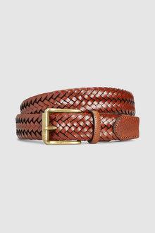 Next Signature Italian Leather Weave Belt
