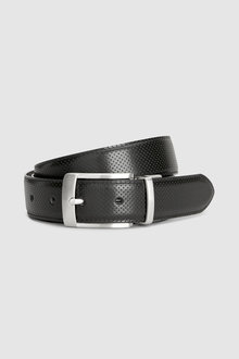 Next Perforated/Plain Reversible Leather Belt