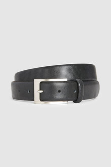 Next Signature Italian Leather Textured Belt