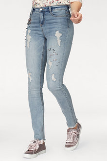 Urban Pearl Detail Jeans - 222951