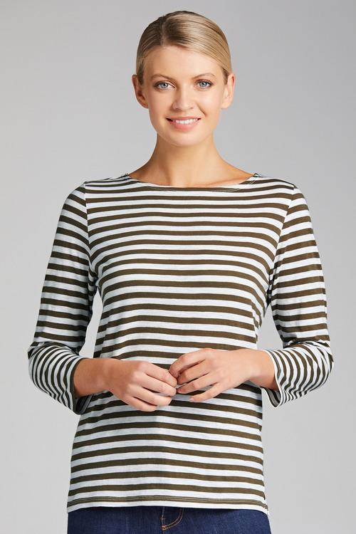 Capture Key Stripe 3/4 Sleeve Tee