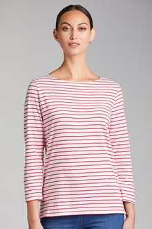 Capture Key Stripe 3/4 Sleeve Tee