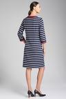 Capture Stripe 3/4 Sleeve Shift Dress