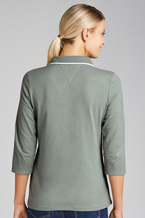 Capture 3/4 Sleeve Polo Top