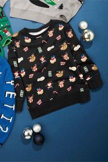 Next Christmas All Over Print Sweat Top (3-16yrs)