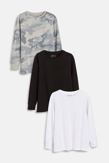 Next Long Sleeve T-Shirts Three Pack (3-16yrs)