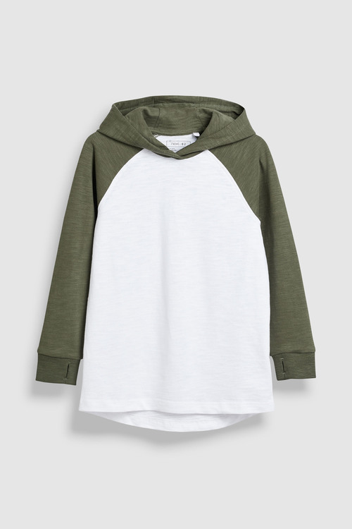 Next Long Sleeve Raglan Hoodies Two Pack (3-16yrs)