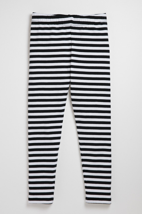 Pumpkin Patch Striped Cotton Elastane Legging