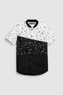 Next Paint Splat Spliced Short Sleeve Shirt (3-16yrs)