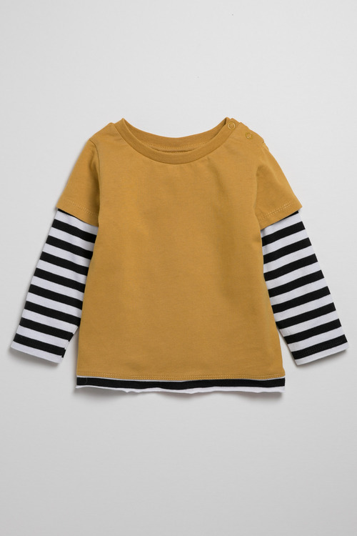 Pumpkin Patch Long Sleeve Double Layer Tee