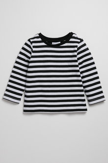 Pumpkin Patch Long Sleeve Stripe Tee - 223070