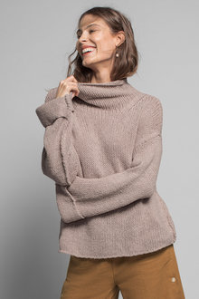Emerge High Neck Wide Sleeve Sweater - 223076