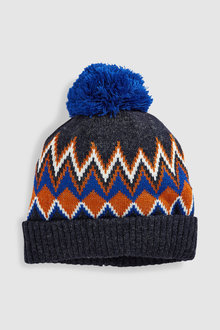 Next Pattern Bobble Hat