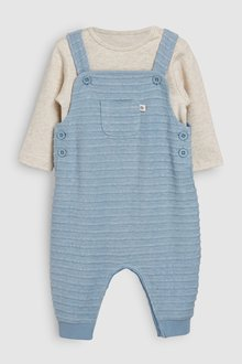 Next Jersey Dungarees And Bodysuit (0mths-2yrs)