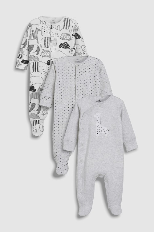 Next Giraffe Sleepsuits Three Pack (0mths-2yrs)