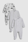 Next Giraffe Sleepsuits Three Pack (0mths-2yrs)