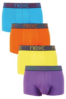 Next Contrast Waistband Hipsters Four Pack