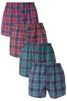 Next Check Woven Boxers Four Pack