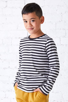 Pumpkin Patch Long Sleeve Stripe Tee