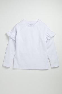 Pumpkin Patch Long Sleeve Top with Arm Ruffles - 223166