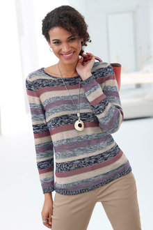 Capture European Striped Sweater