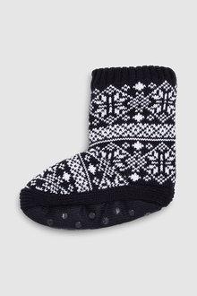 Next Pattern Slipper Sock Boots (Older)