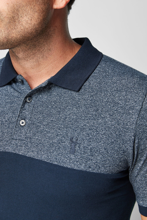 Next Muscle Fit Block Polo