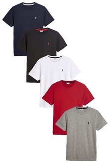 Next Colour Logo T-Shirts Five Pack - 223205