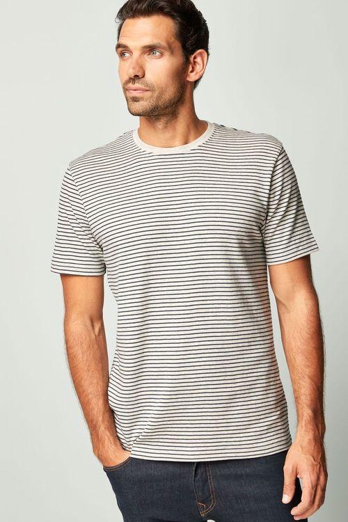 Next Textured Stripe T-Shirt