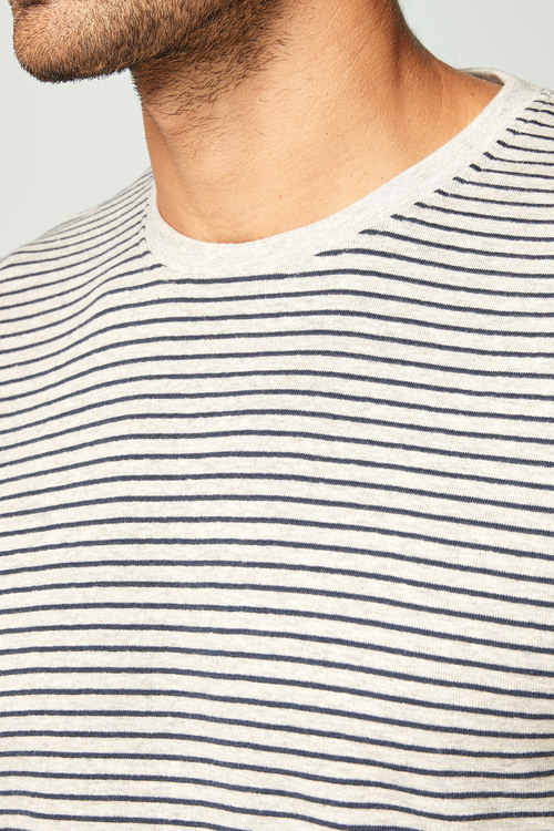Next Textured Stripe T-Shirt