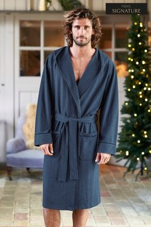 Next Signature Herringbone Robe