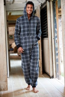 Next Check Fleece All-In-One