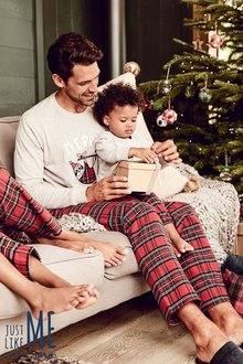 Next Mens Merry Slothmas Tartan Pyjamas