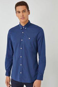 Next Poplin Long Sleeve Shirt