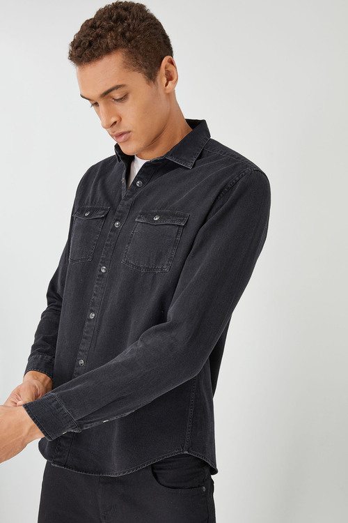 Next Long Sleeve Denim Western Shirt