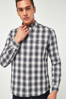 Next Ombre Check Long Sleeve Shirt