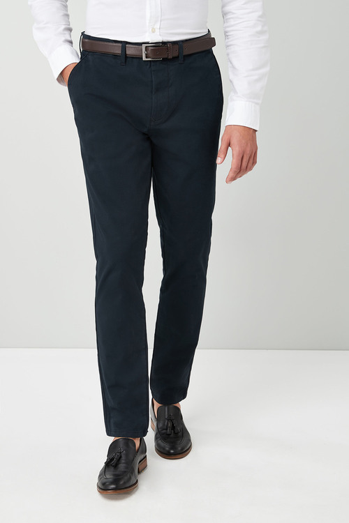 Next Belted Chinos - Skinny Fit