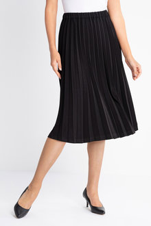 Grace Hill Pleated Midi Skirt