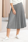 Grace Hill Pleated Midi Skirt