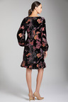 Grace Hill Ruffle Hem Burnout Dress