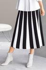 Grace Hill Knit Contrast Detail Midi Skirt